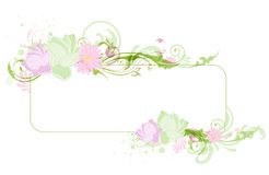Banner with lotus Royalty Free Stock Photography