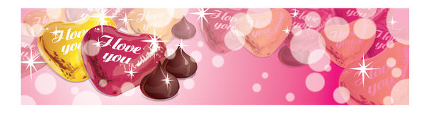 Banner of love Royalty Free Stock Photo