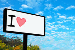 Banner Love. This is a banner love use for tell someone you love Stock Images