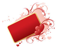 Banner of Love Royalty Free Stock Photography