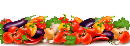 Banner Made Of Fresh Colorful Vegetables Royalty Free Stock Photos