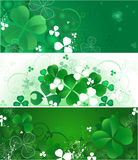 Banner with the magic clover Royalty Free Stock Image