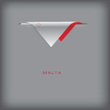 Banner Malta with the national symbols Royalty Free Stock Photos