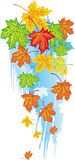 Banner from maple leaves Stock Photo