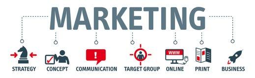 Banner marketing concept stock illustratie