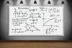 Banner with mathematic formulas Royalty Free Stock Image