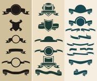 banner medalionu jeden tarcza 20 Zdjęcia Royalty Free