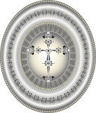 Banner medallion. Stock Photography