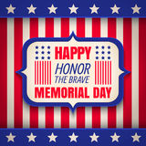 Banner for Memorial day. Royalty Free Stock Images