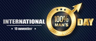 Banner Mens Day 3D Royalty Free Stock Image