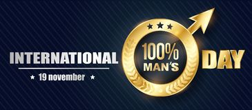 Banner Mens Day 3D Royalty Free Stock Photography