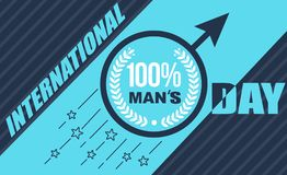 Banner Mens Day Stock Photography