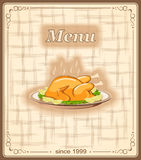 Banner for menu with chicken Royalty Free Stock Image