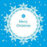 Banner Merry Christmas card Stock Photography
