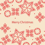 Banner Merry Christmas card Royalty Free Stock Images
