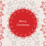 Banner Merry Christmas card Stock Photo