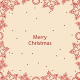 Banner Merry Christmas card Stock Photos