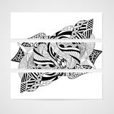 Banner met abstract hand-drawn patroon Royalty-vrije Stock Foto