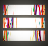 Banner met abstract patroon Royalty-vrije Stock Foto