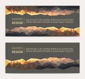 Banner met abstracte veelhoekige achtergrond Royalty-vrije Stock Foto's