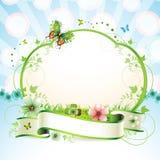 Banner met bloemen Royalty-vrije Stock Afbeelding