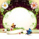 Banner met bloemen Stock Foto