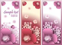 Banner met bloemen Stock Afbeelding