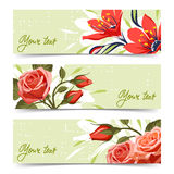 Banner met bloemen Royalty-vrije Stock Foto