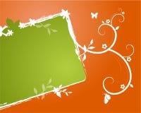Banner met bloemenornamenten vector illustratie