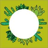 Banner met cactus en plaats voor tekst stock illustratie