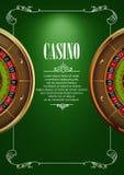 Banner met de kentekens van het casinoembleem Stock Foto