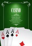 Banner met de kentekens van het casinoembleem Royalty-vrije Stock Afbeelding