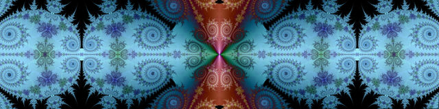 Banner met decoratieve spiralen en patronen Stock Foto