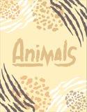 Banner met dierlijke druk royalty-vrije illustratie