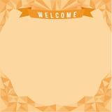 Banner met driehoeksstijl Royalty-vrije Stock Afbeelding