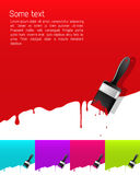 Banner met druipende verf Stock Afbeelding