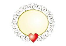 Banner met een hart. vector illustratie