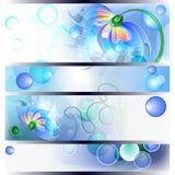 Banner met fee mum en babybloemen Stock Foto's