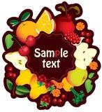 Banner met fruit Stock Afbeelding