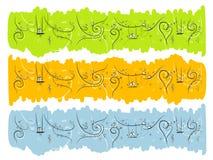 Banner met grappige vogels en katten voor uw ontwerp Royalty-vrije Stock Fotografie