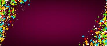Banner met kleurenruiten Royalty-vrije Stock Afbeelding