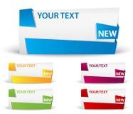 Banner met lint. grote ruimte voor uw reclame Stock Foto's