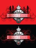 Banner met meisjessilhouet Royalty-vrije Stock Fotografie