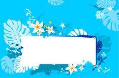Banner met philodendronbladeren Stock Afbeelding