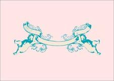 Banner met twee herubs. royalty-vrije illustratie