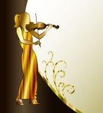 Banner met violist Royalty-vrije Stock Fotografie