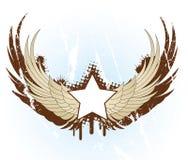 Banner met vleugels vector illustratie