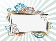 Banner met wervelingsachtergrond Royalty-vrije Stock Afbeeldingen