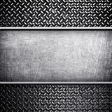 Banner of metal background Royalty Free Stock Image