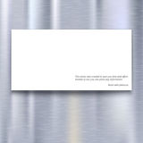 Banner on metal texture background Royalty Free Stock Photography
